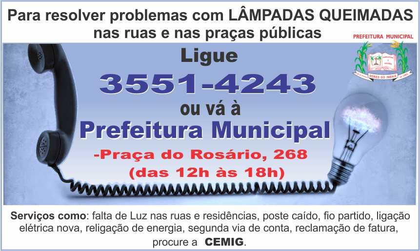 Lampada Queimada Nas Ruas Ou Pracas Publicas Ligue 3551 4243